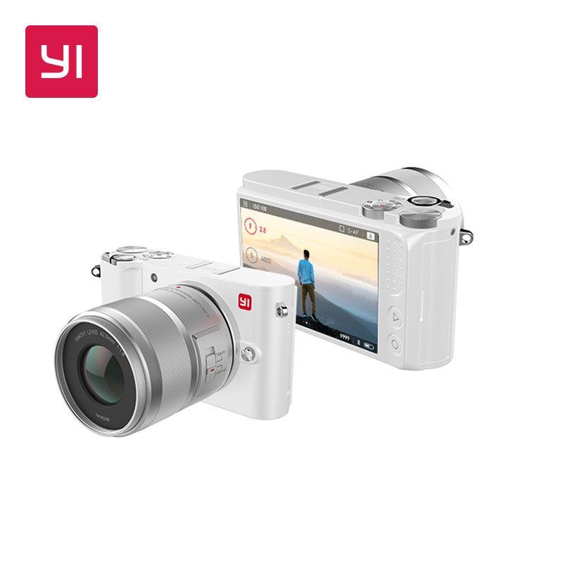 YI M1 Mirrorless Digital Camera Prime Zoom Two Lens LCD Minimalist International Version 20MP Video Recorder 720RGB Digital Cam