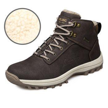 39-46 Мужские ботинки плюшевые теплые зимние Мужская обувь большой Размеры противобуксовочные зимняя обувь Для мужчин чёрный; коричневый без...