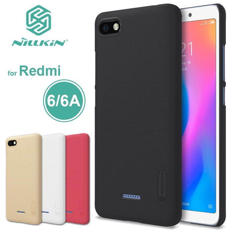 Xiaomi Redmi 6 Case Nillkin Frosted Shield Redmi 6A Hard Back Cover Xiaomi Redmi 4A 5A Nilkin Phone Case + Screen Protector