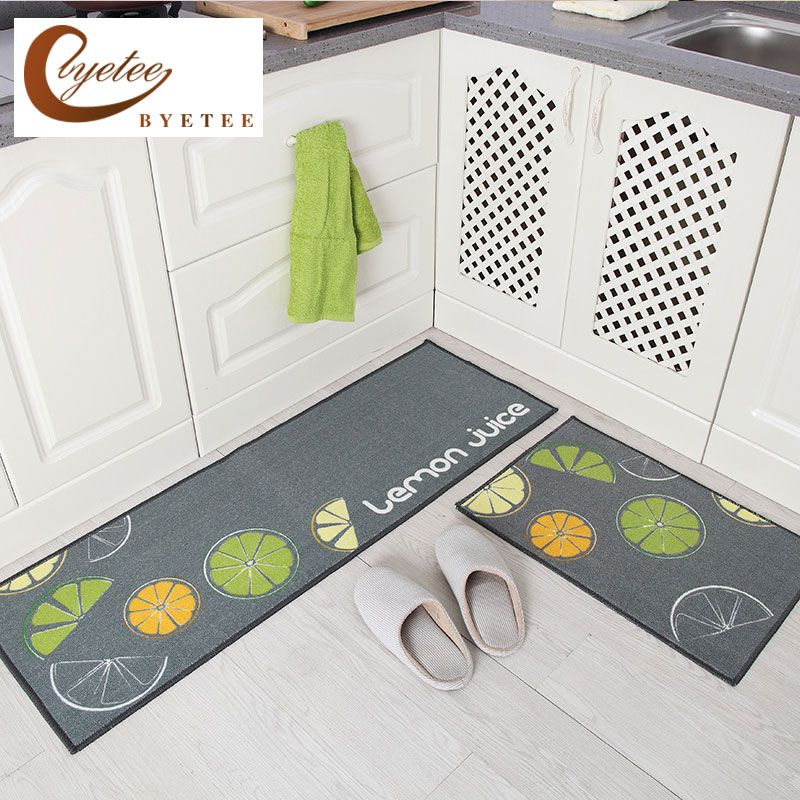 {Byetee} Kitchen Hot Selling Mats Door Bathroom Carpet Absorbent Slip-resistant Doormats Modern Kitchen Mat