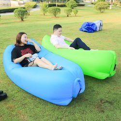 Fast Folding Camping Mat Inflatable Sofa Lazy Bag Air Sofa Laybag Sleeping Pad Bag Adult Bed Air Lounge Chair Camping Mattress
