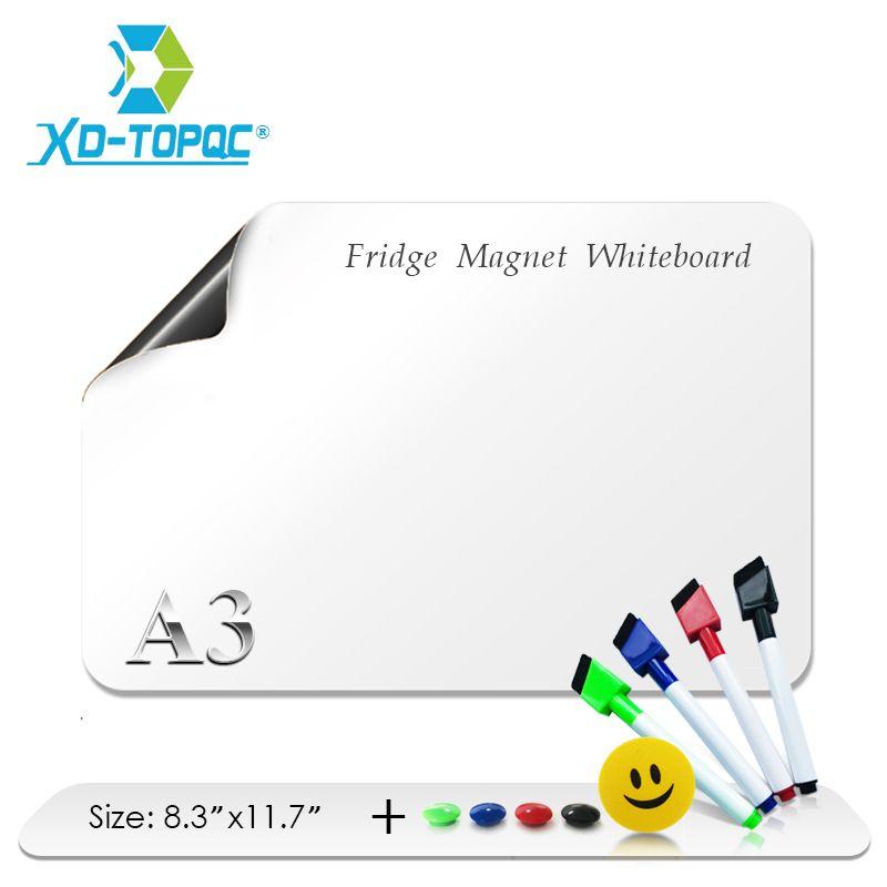 A3 tableau blanc 12 x 17 aimants de réfrigérateur flexibles imperméable enfants blanc planche à dessin Message magnétique réfrigérateur planches FM05