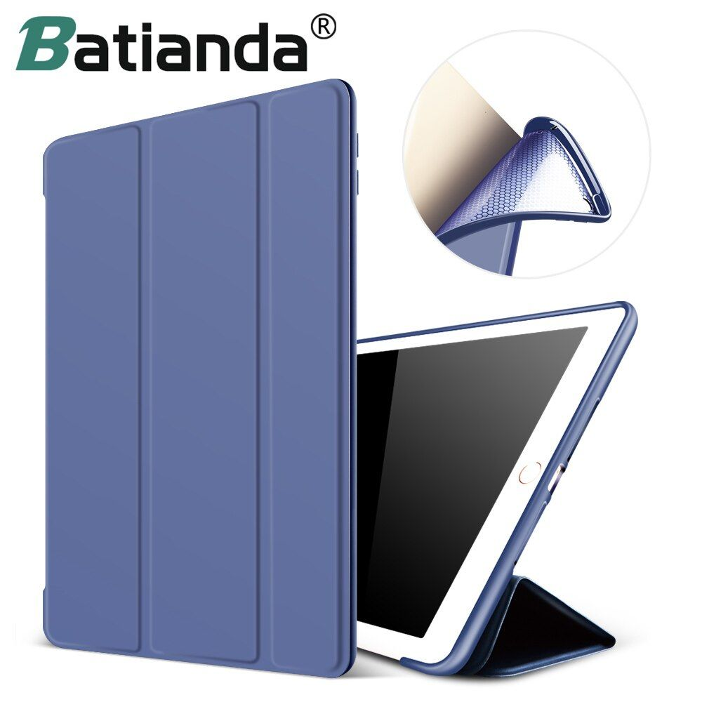 For New iPad 2017 iPad 9.7 Inch Case,Ultra Slim <font><b>Lightweight</b></font> Smart Case Trifold Cover Stand with Flexible Soft TPU Back Cover