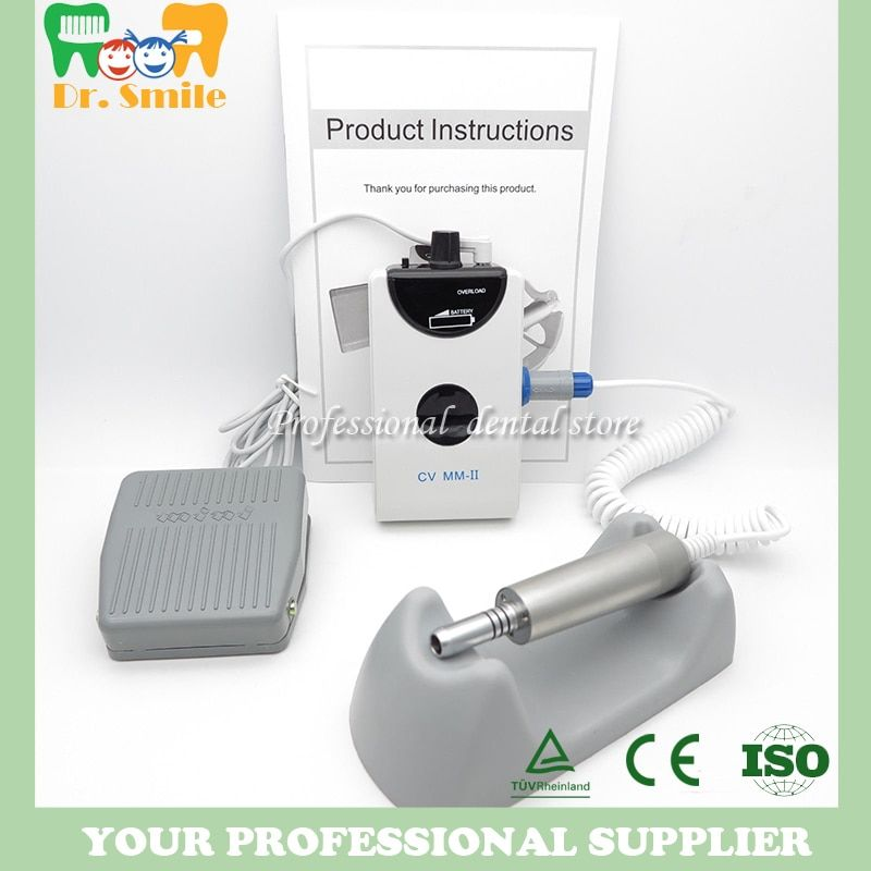 Dental portable mini Micro motor Brushless Machine Electric Motor with one straight handpiece Low Speed nail polishing