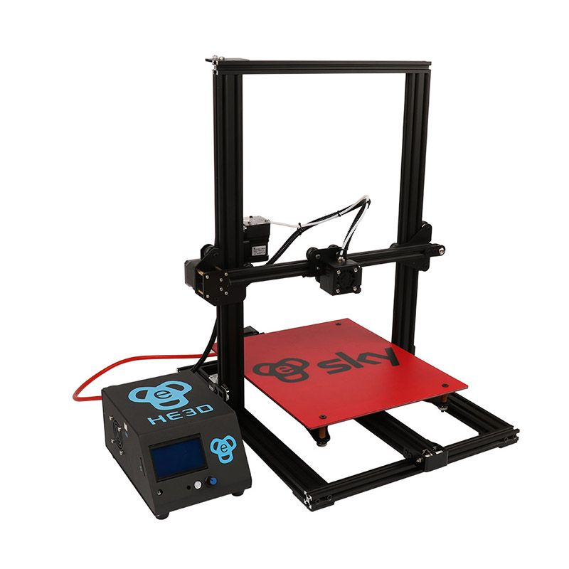 2018 newest HE3D SKY preassembled 3D Printer Impresora 3D Full Aluminium Frame with Titan Extruder Large Printing Area