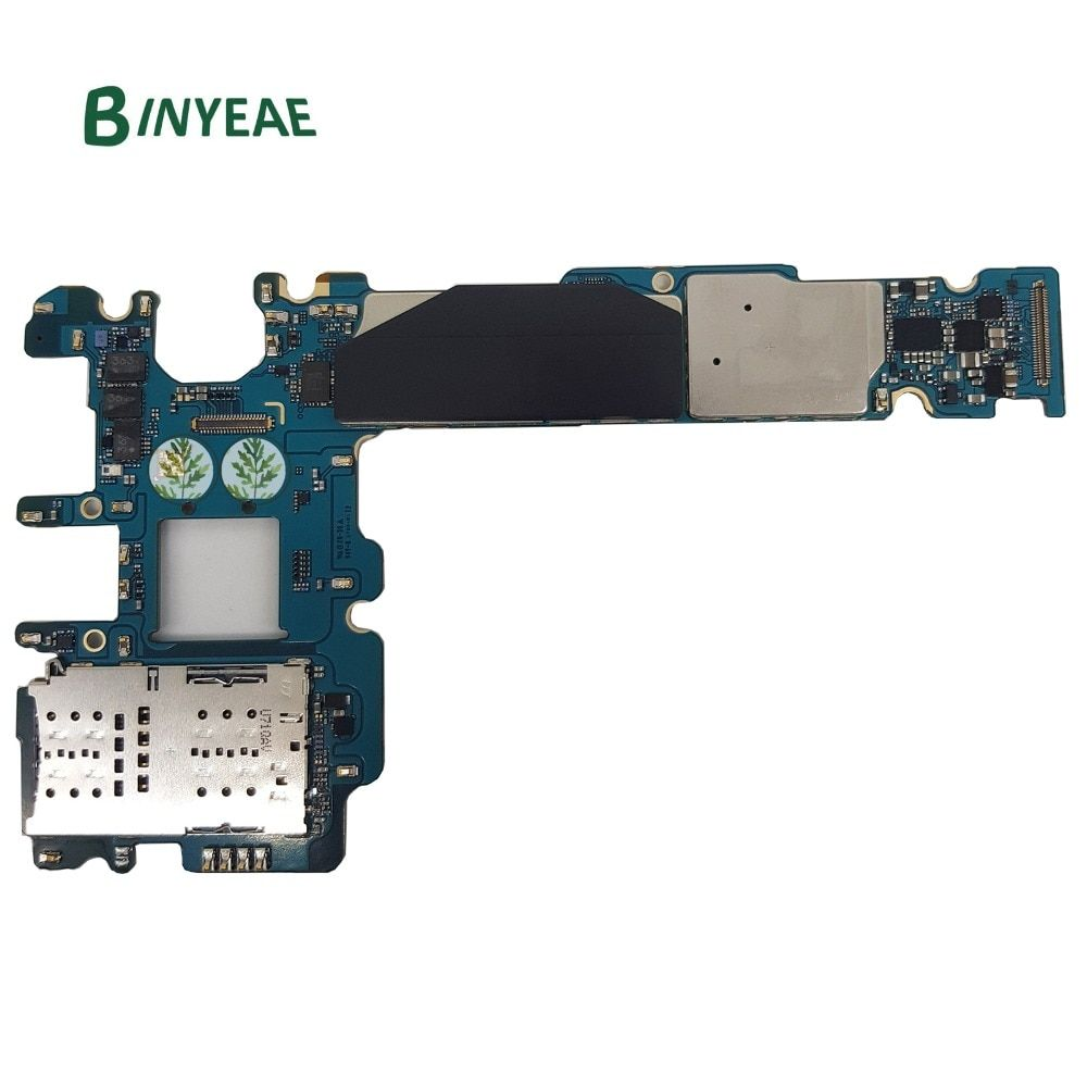 BINYEAE 64GB Motherboard Unlocked Main Motherboard Replacement For Samsung Galaxy S8+Plus G955F Testing Good