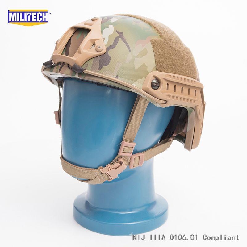 ISO Zertifiziert MILITECH MC OCC Zifferblatt NIJ Ebene IIIA 3A SCHNELLE High Cut Kugelsichere Kevlar Ballistischen Helm Mit 5 Jahre garantie