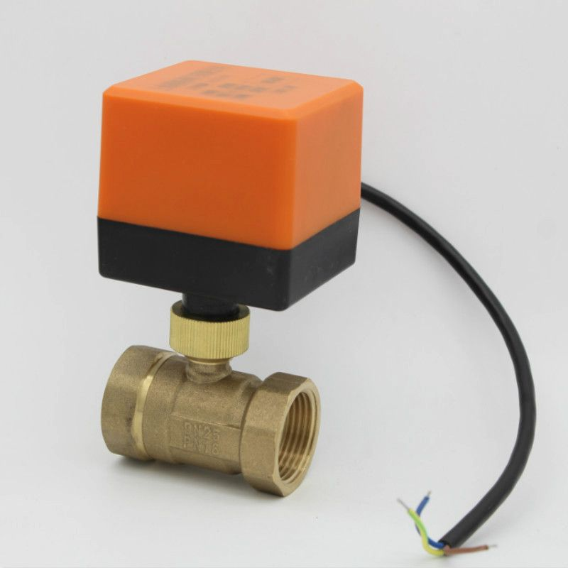 AC220V/24 V DC12V/24 V 2 voies vanne en laiton motorisée vanne à boisseau sphérique électrique actionneur électrique DN15 DN20 DN25 DN32 DN40