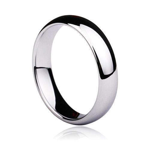Bague de mariage classique polie en carbure de tungstène blanc/noir/or/bleu 3mm
