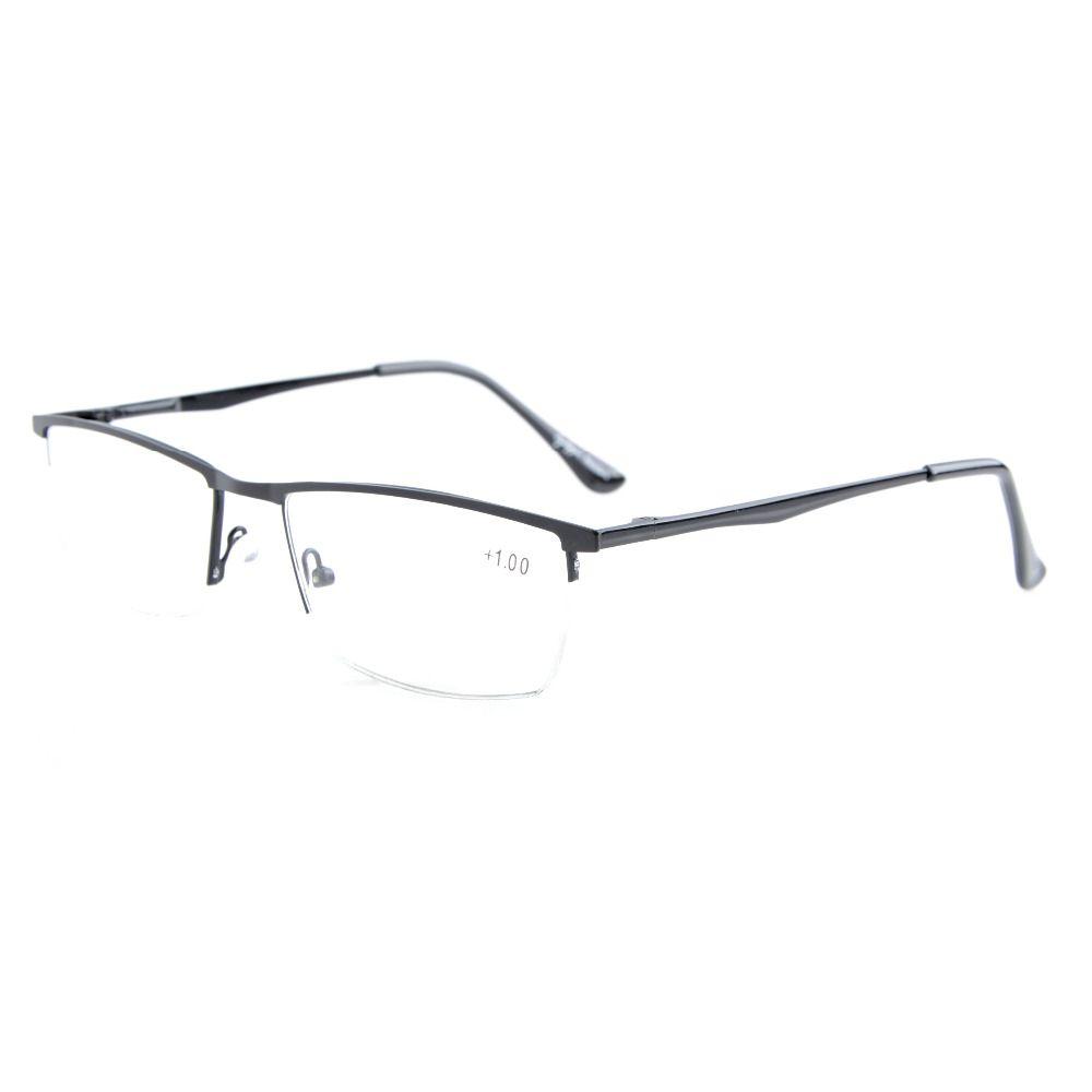 R1614 lunettes de lecture demi-jante à charnières à ressort de qualité eye kepper + 0.5/0.75/1.0/1.25/1.5/1.75/2.0/2.25/2.5/2.75/3.0/3.5/4.0/