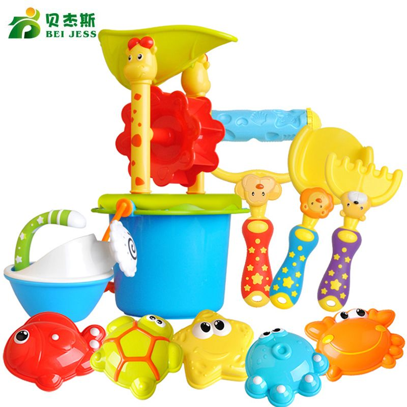 BEI JES Beach Toys high quality Bucket Rakes Sand Wheel Watering Outdoor Beach Play Bath Toys For Children Gifts