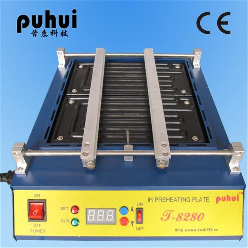 220V or 110V Puhui T8280 PCB Preheater IR Preheating Plate T-8280 IR-Preheating Oven 0-450degree Celsius
