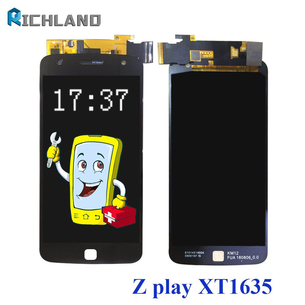 AMOLED LCD Display For Motorola Moto Z Play XT1635 LCD Screen LCDs Touch panel Digitizer Assemly replacement parts+repair Tool