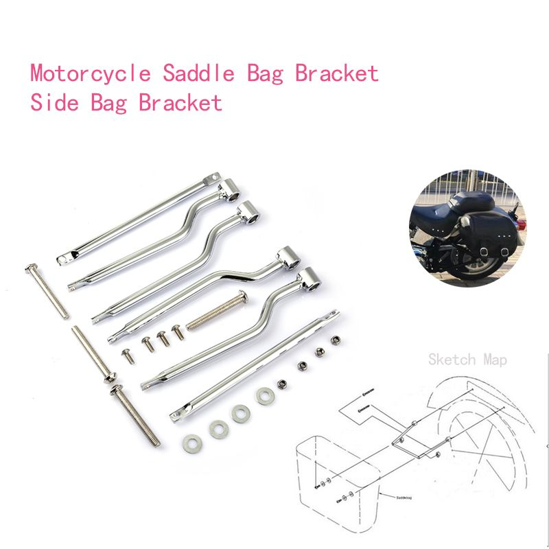 Side Luggage Support Motorcycle Saddle Bag Bracket For Steed 400/600 Magna 250/750 C50 M109R