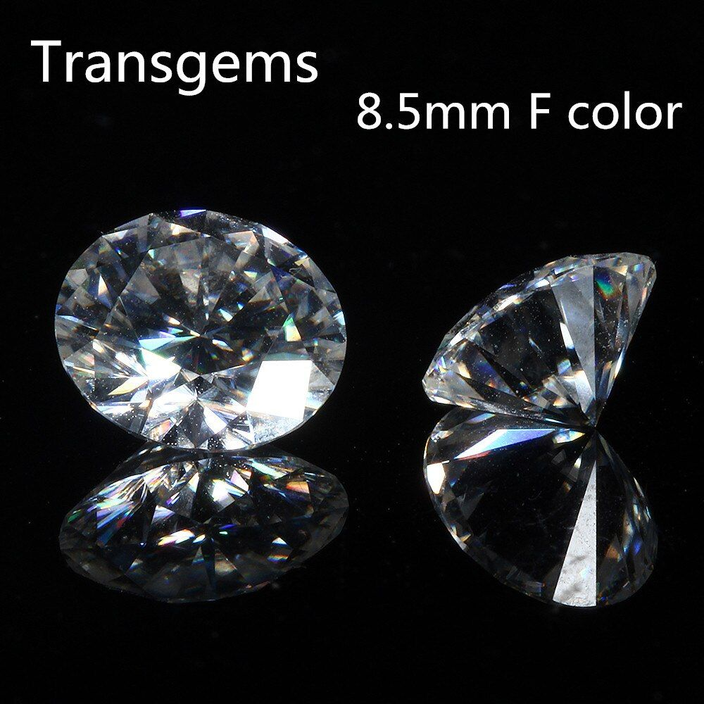 Transgems 8.5mm 2.5ct round brilliant cut moissanites loose stone beads for jewelry making retail price 1piece
