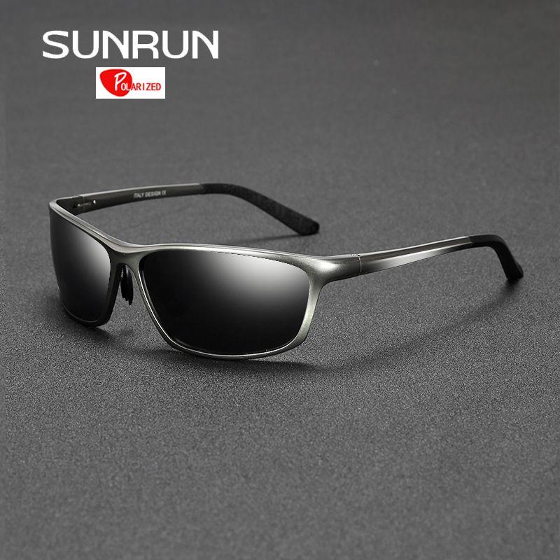 SUNRUN lunettes de soleil polarisées hommes conduite lunettes de soleil en aluminium lunettes de soleil pour homme lentes de sol hombre 2179