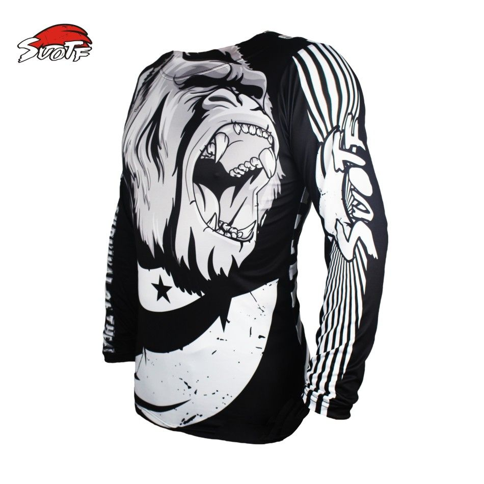 SUOTF Black Orangutan Boxing Fitness Breathable Wearable Long Sleeve mma boxing shorts yokkao Fierce Sweatshirt tiger muay thai