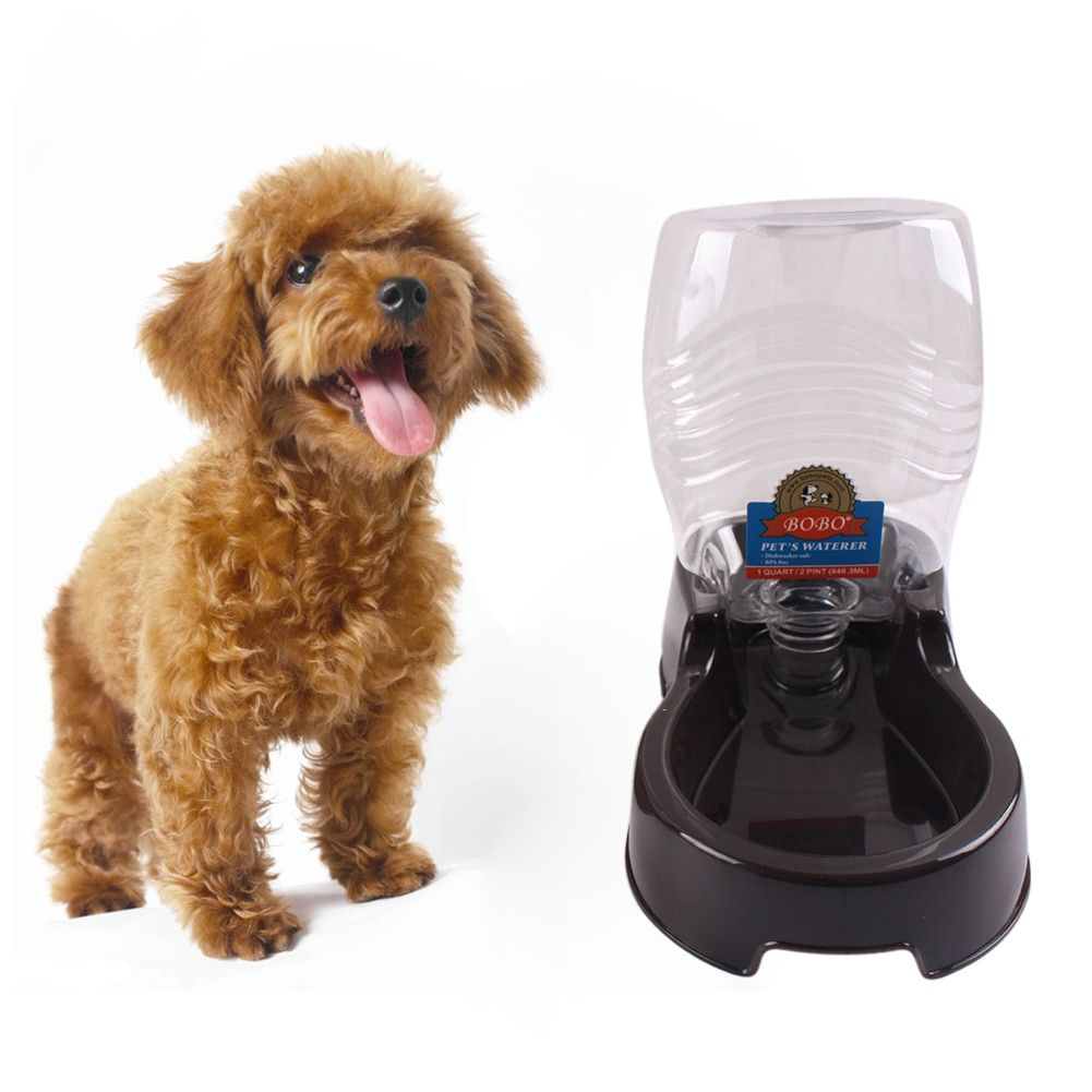 400 ml Pet Dog Water Bottle For Kitten Cat Drinking Fountain Automatic Slow Water Dispenser Plastic Travel Dog Bowl
