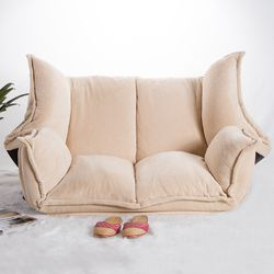 Adjustable Fabric Folding Chaise Lounge Sofa Chair Floor Couch Living Room Furniture Sofa Daybed Sleeper Leisure Gaming Sofa