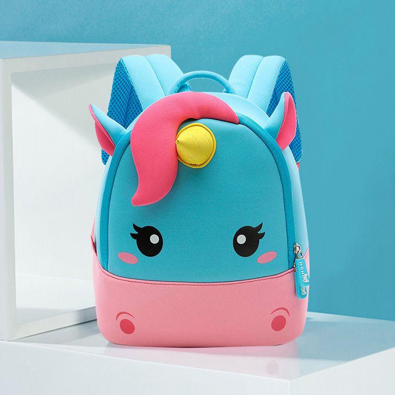 Toddler Girl Backpack, 3D Mini Unicorn Cartoon Travel Pre School Bag for Girls Boys Kids 2-8 Years