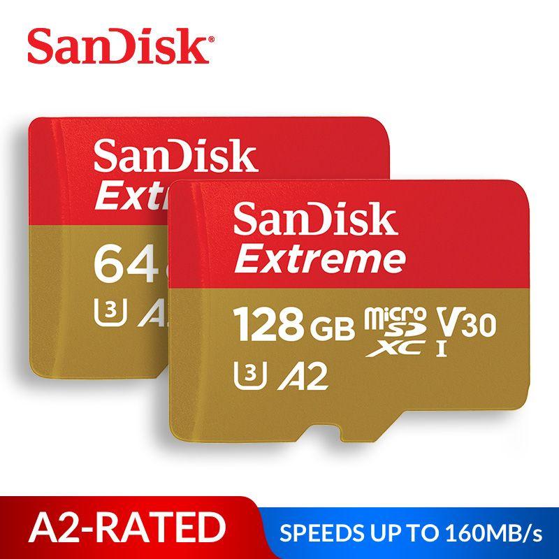 Carte mémoire SanDisk carte micro SD extrême UHS-I C10 U3 V30 A2 microSDHC/microSDXC Flash 32 GB 64 GB 128 GB 256 GB 400 GB carte TF GB