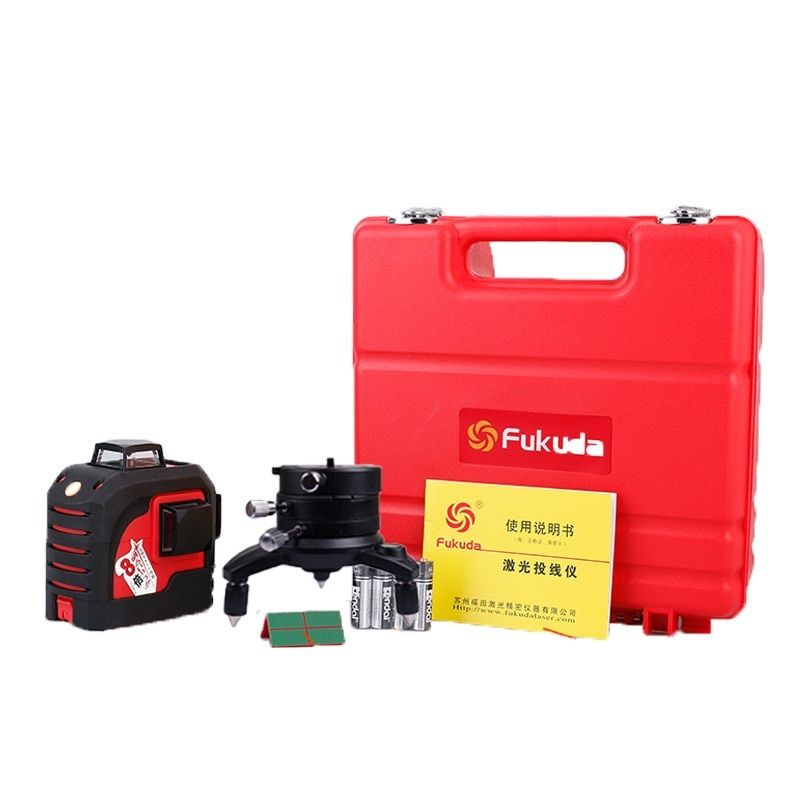Fukuda 12Lines 3D 93T Laser Level Self-Leveling 360 Horizontal And Vertical Cross Super Powerful Red and green Laser Beam Line