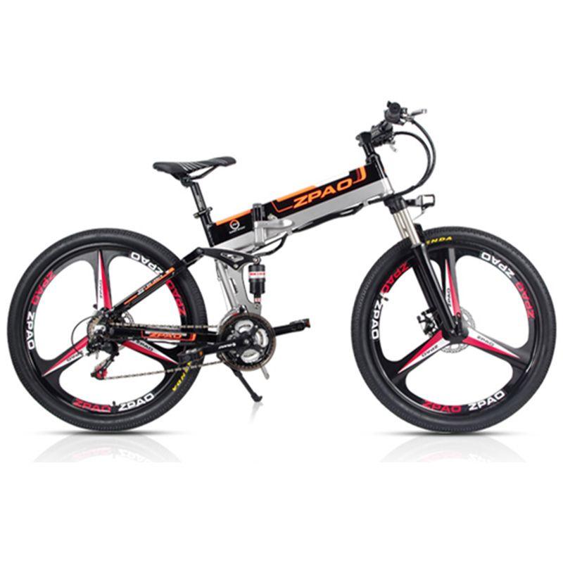 ZPAO 21 Geschwindigkeit, 26 zoll, 48 V/15A 350 W, Klapp Elektrische Fahrrad, mountainbike, Lithium-Batterie, Aluminium Legierung Rahmen, Disc Bremse