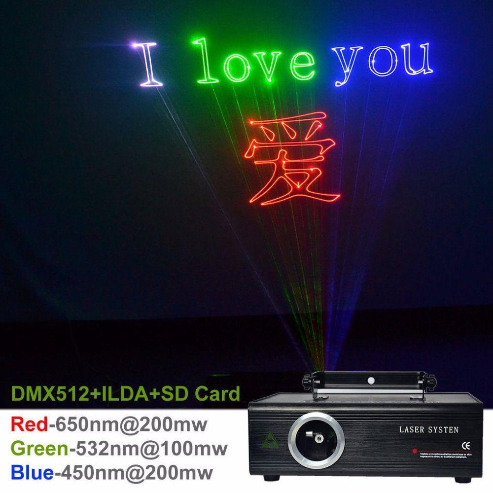Aucd SD карты 24ch DMX ILDA Калейдоскопы RGB 500 МВт лазерной анимации проектор этап Освещение PRO DJ Показать участник DIY свет da-f500
