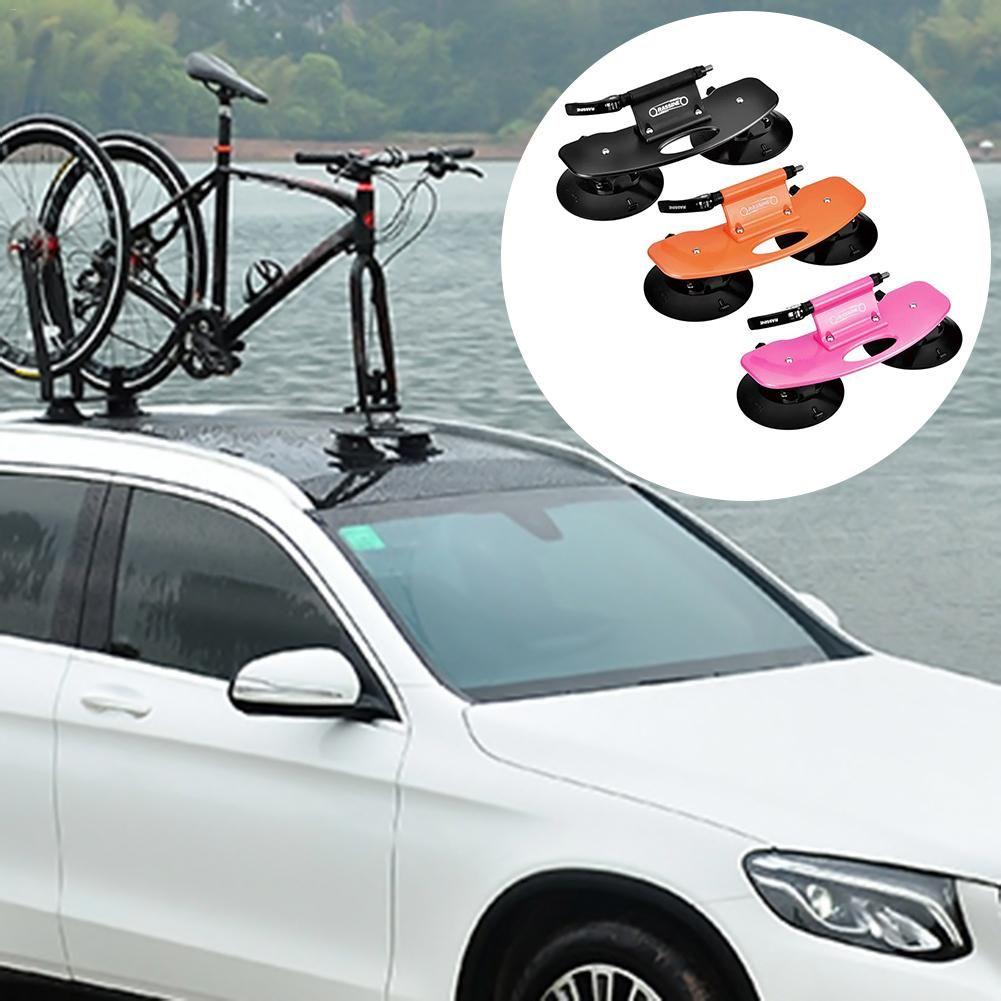 Aluminium Legierung Fahrrad Auto Rack Träger Dach-Top Saug Schnell Installation Sauger Dach Rack für MTB Mountainbike Straße fahrrad