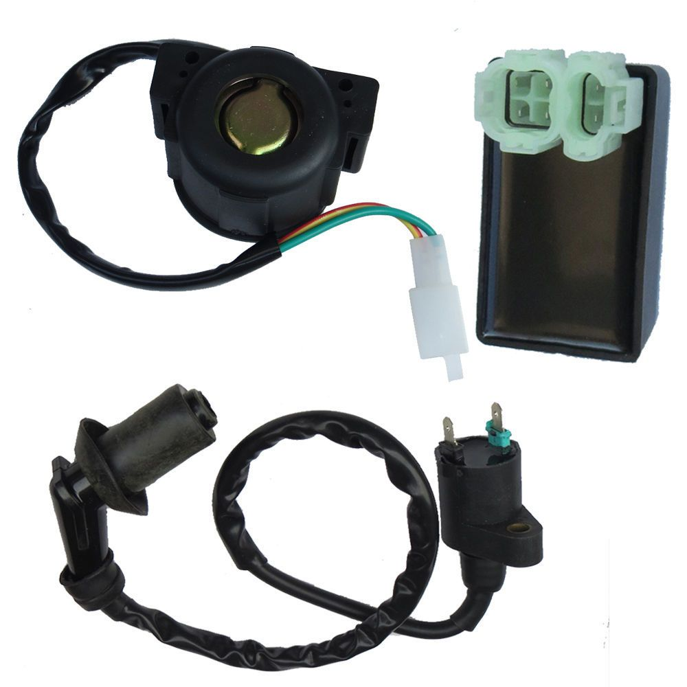 FREE SHIPPING GY6 50CC 125CC 150CC CDI BOX+IGNITION COIL+STARTER RELAY FOR CHINESE MOPED SCOOTER ATV TAOTAO JONWAY ZNEN KEEWAY