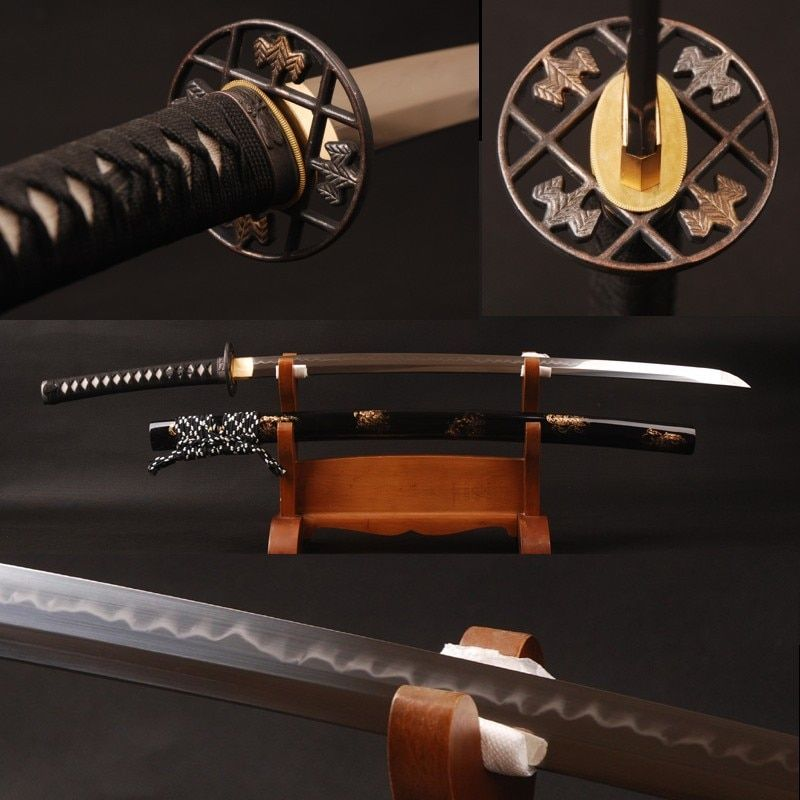 Shijian Swords Japanese Samurai Katana 1095 Carbon Steel Clay Tempered Full Tang Sharp Edge Handmade Real Sword Good Present