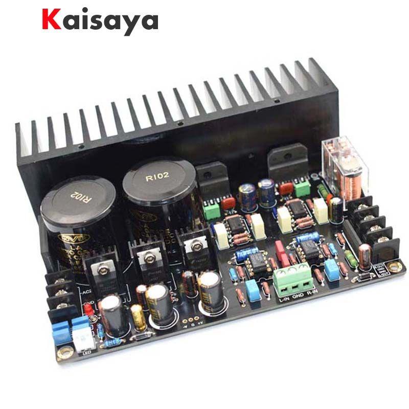 quality LM3886 JRC5534DD OP07 Max Output Power 2 x 68W HIFI music AUDIO diy heatsink Amplifier Board free shipping B4-001