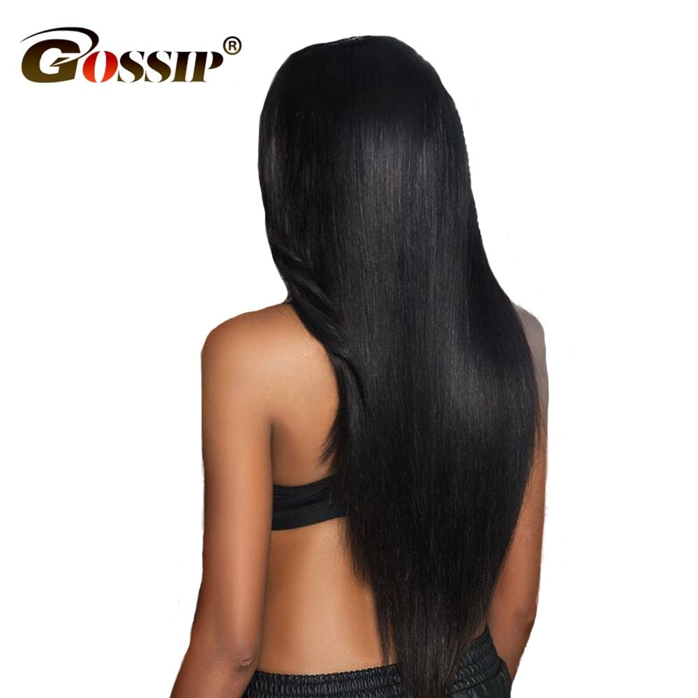 Pre Plucked Full Lace Human Hair Wigs With Baby Hair Gossip Glueless Full Lace Wigs For Women Brazilian Straight Wigs Non Remy