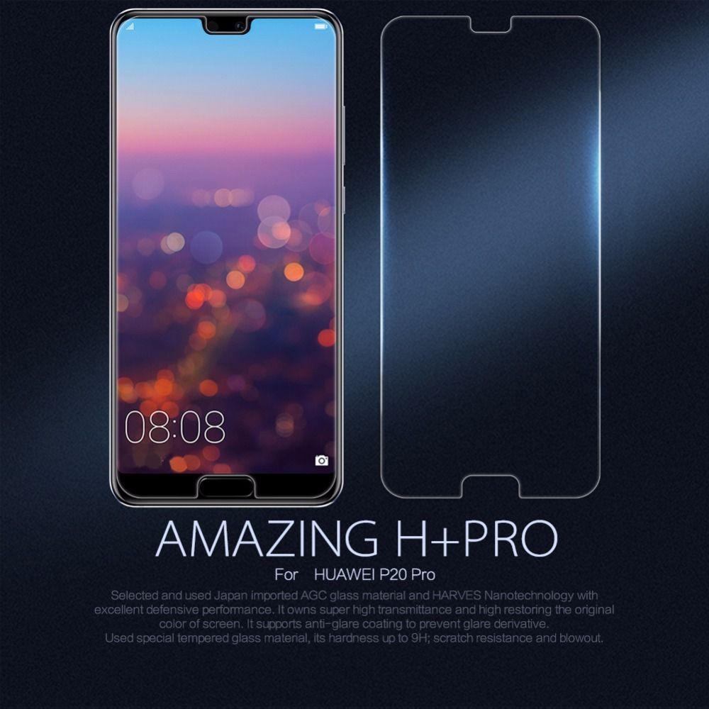 Nillkin film protecteur d'écran en verre pour Huawei P20 Pro P20 Lite Honor 8 verre de protection H + PRO 2.5D 9 H