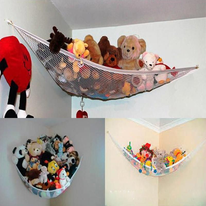2015 New Hot sale Large Pet Storage Corner Stuffed Animals Toys Toy Net Hammock for home baby children New Wholesale