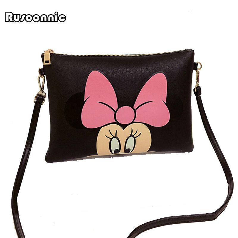 Hello Kitty femme besace Minnie Mickey sac cuir sacs à main pochette Bolsa Feminina mochila Bolsas femme sac a main