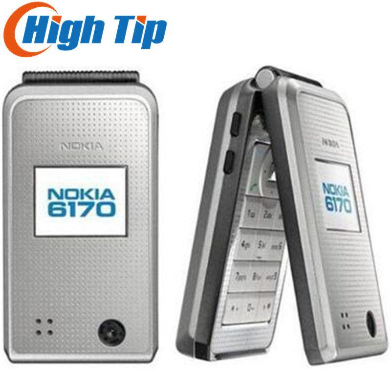 Nokia 6170 Original unlocked mobile phone Flip phone Double screen multilingual Free Shipping Refurbished