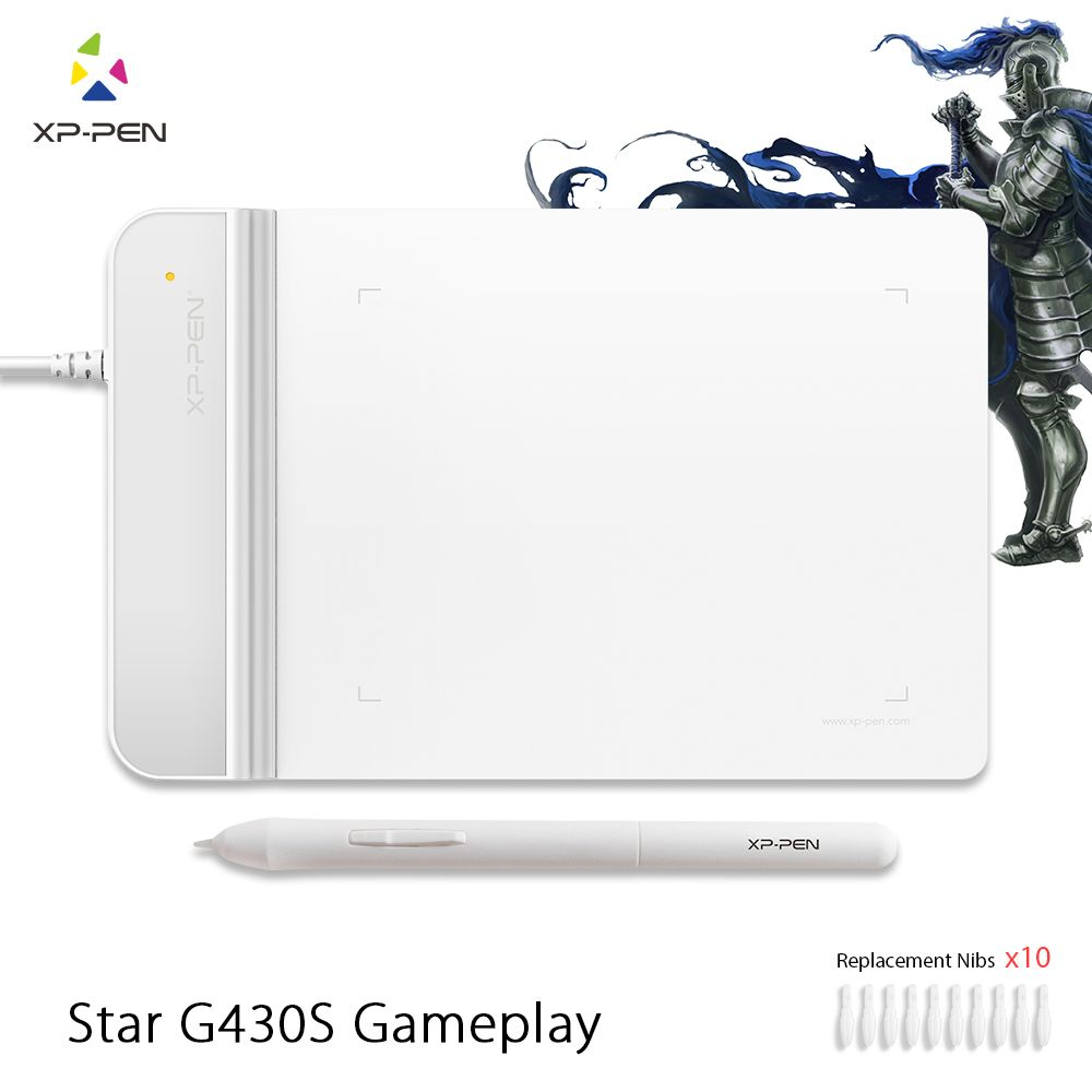 The XP-Pen G430S 4 x 3 inch Ultrathin Graphic Tablet Drawing Tablet/Pen Tablet for OSU with Battery-free stylus- designed White