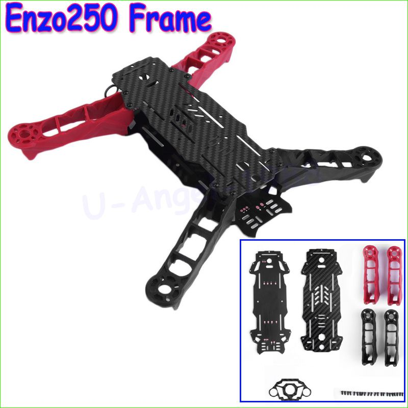 Wholesale 1 set High Quality Enzo250 250mm Wheelbase 4-Axis Carbon Fiber Quadcopter Frame Kit