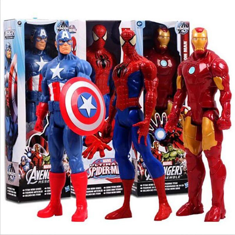 Marvel Incroyable Ultime Spiderman Captain America Iron Man Action PVC Figure Collection Modèle Jouet pour les Enfants Enfants de Jouets