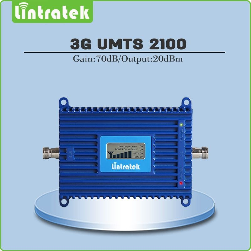 High Gain 70dB 3G signal repeater 2100mhz WCDMA signal amplifier 3g repeater 2100mhz signal <font><b>booster</b></font> with LCD display