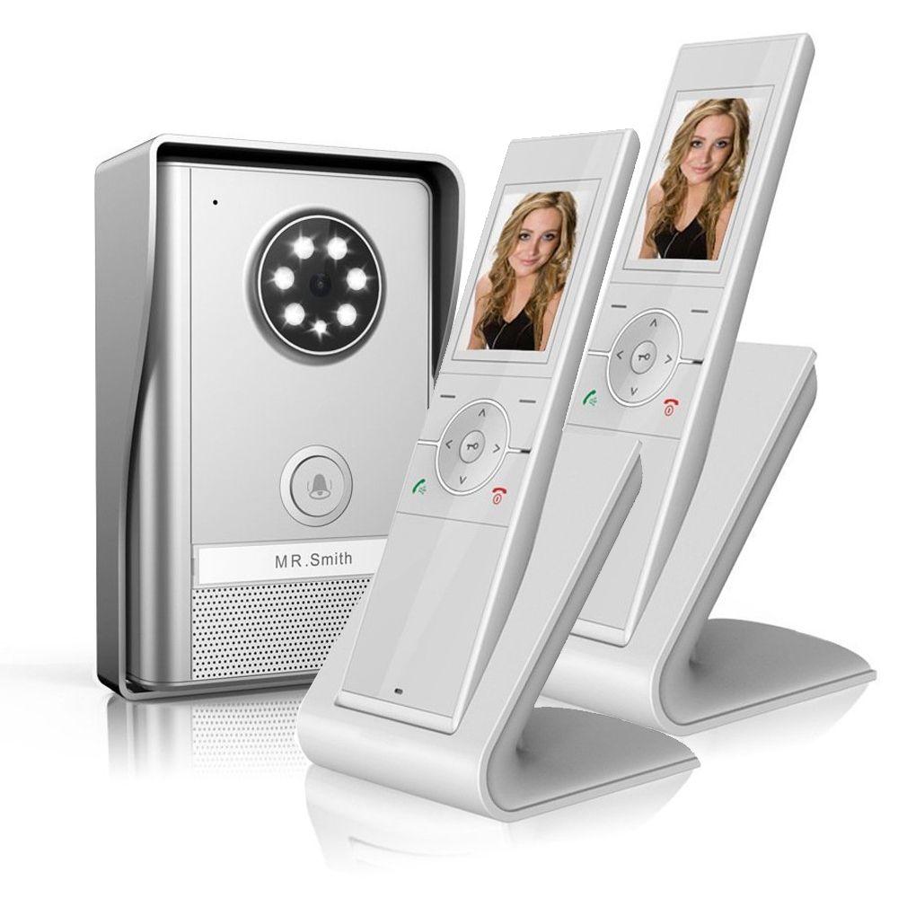 JERUAN New Doorbell Intercom Doorphone Wireless Video Door Phone with memory image Station Outdoor Night Vision function 1V2