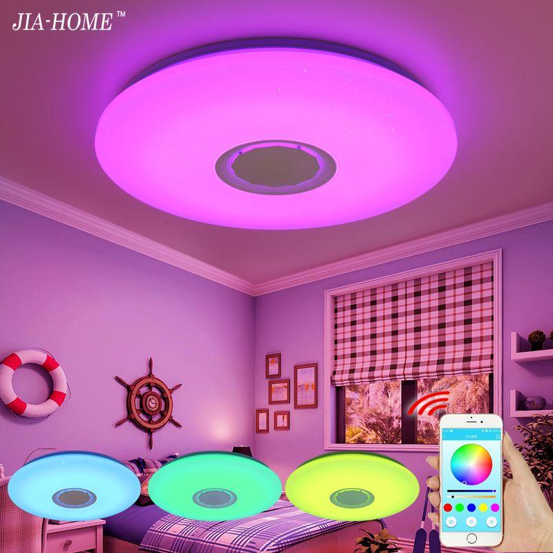 Musique LED plafonnier avec le contrôle de Bluetooth Couleur Changeante Éclairage lampe à encastrer pour chambre plafonniers