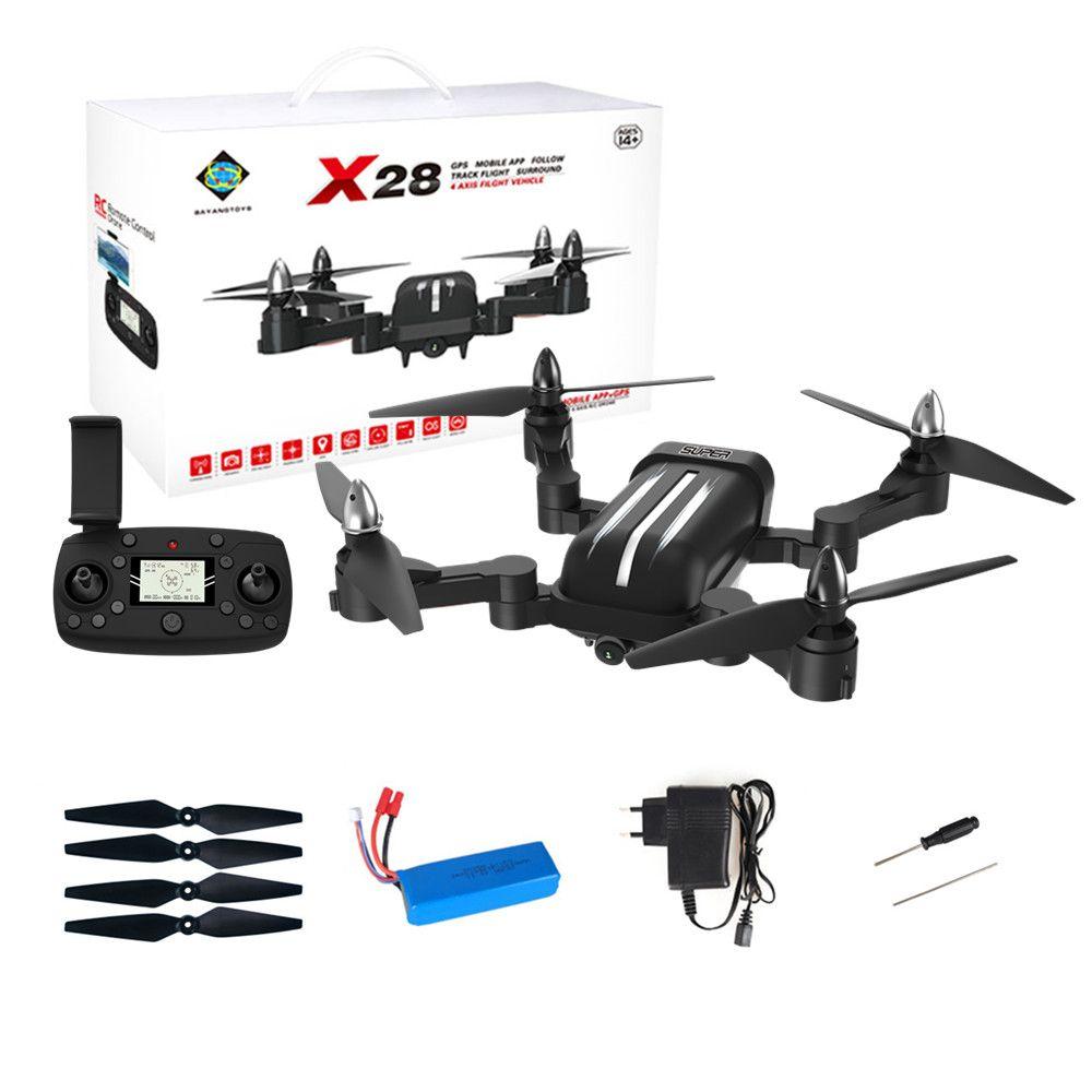 Bayangtoys X28 Quadcopter GPS Mit Kamera Bürstenlosen 5g 1080 p FPV WIFI 600 mt Fernbedienung Abstand Faltbare RC Eders VS CG033 B5W H501S
