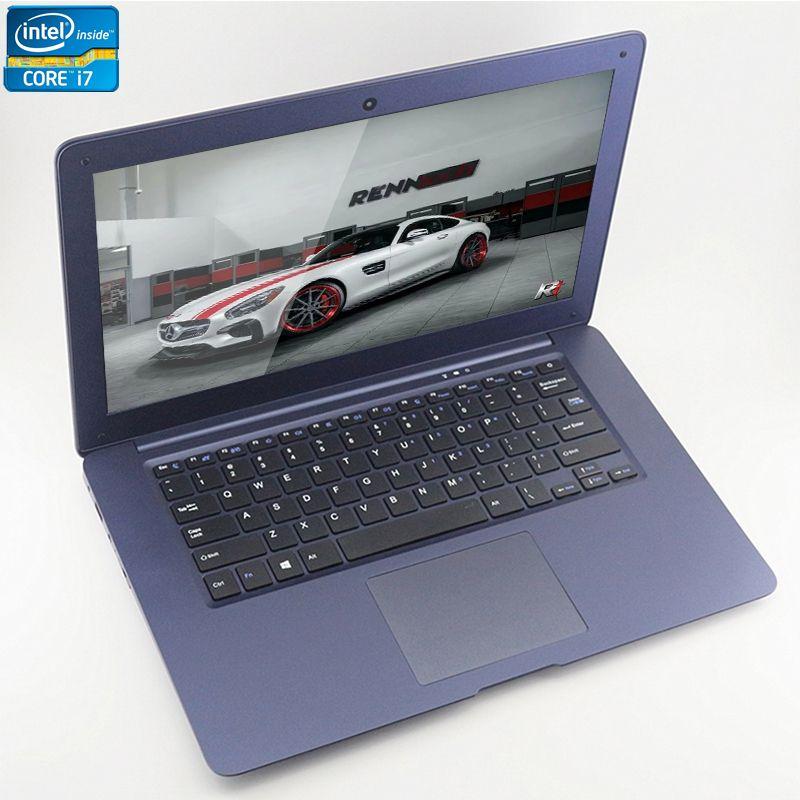 ZEUSLAP-A8 Plus Intel Core i7 CPU 14 pouces 8 GB + 120 GB + 750 GB Double Disques Windows 7/10 système 1920X1080 P FHD Ordinateur Portable Ordinateur portable