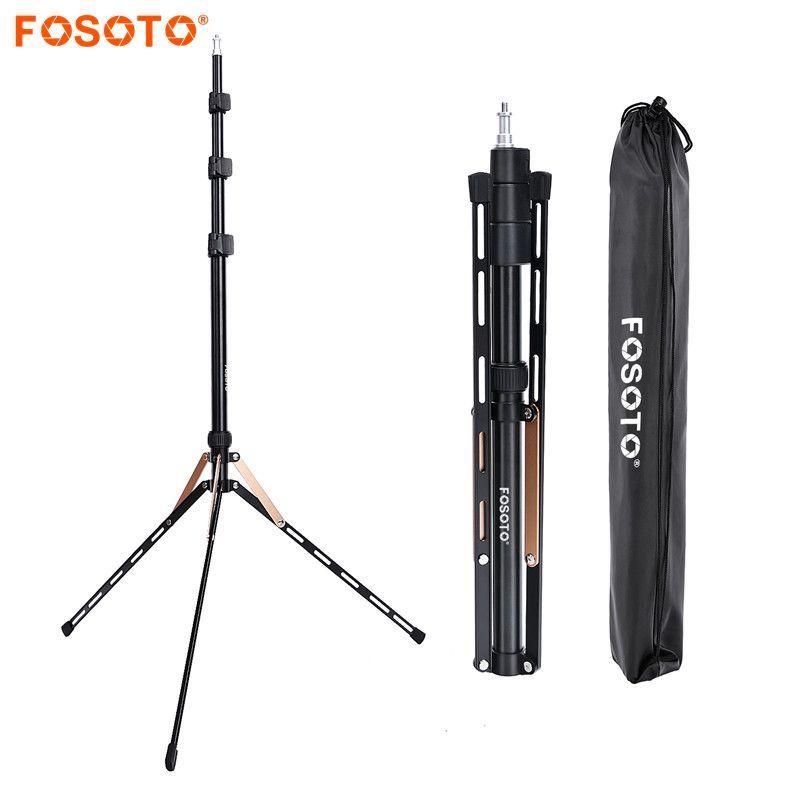 Fosoto FT-190 Gold Light Tripod Stand 1/4 Screw Bag Head Softbox For Photo Studio Photographic Lighting Flash Umbrella Reflector