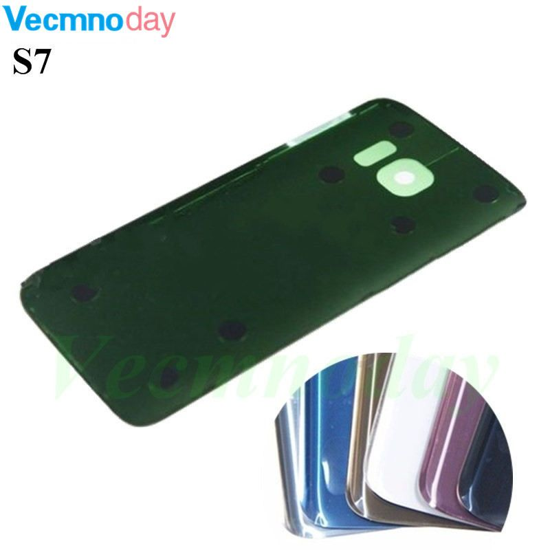 Vecmnoday For Samsung S7 Battery Glass Back Cover for Samsung Galaxy S7 G930 Rear Door Cover 3M Glue Replacement Repair Parts
