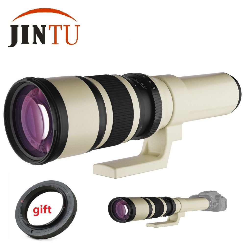JINTU NEW 500mm f/6.3 Telephoto Fixed/Prime Camera Lens +Carry Bag for Canon EOS DSLR SLR Camera 70D 60D 50D 40D 30D 20D T3I