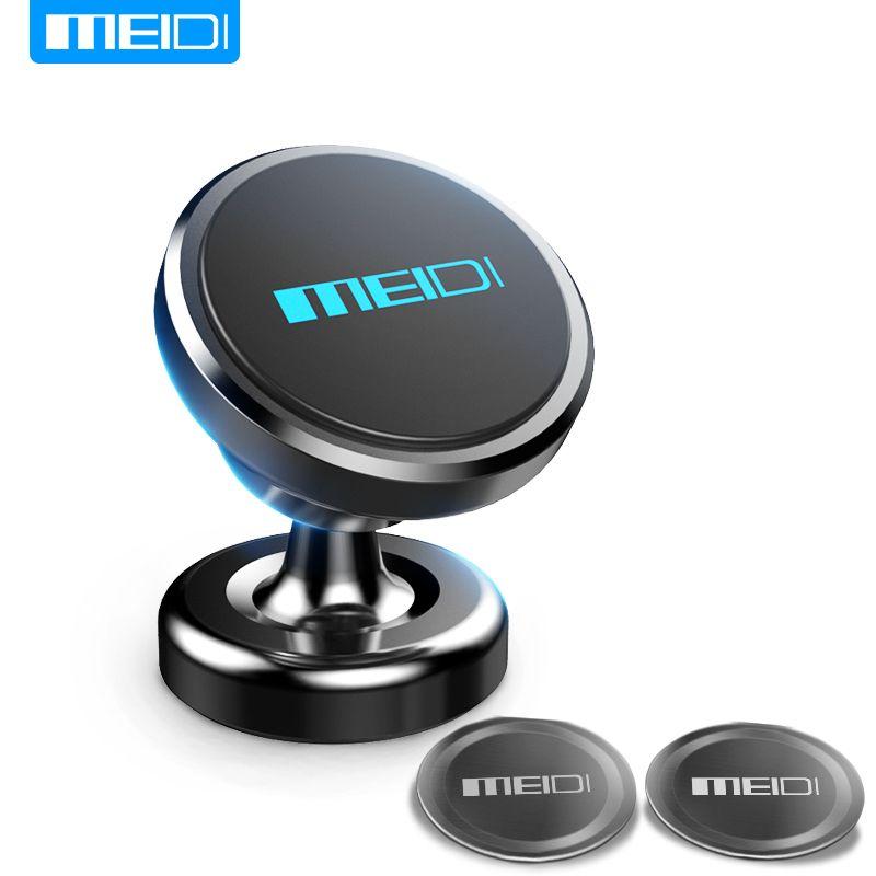 Meidi магнитного автомобильный держатель телефона 360 Вращение GPS мобильного телефона из Металла Автомобильный держатель Подставка для iPhone 6 ...