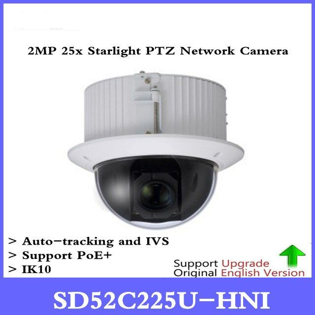 DH SD52C225U-HNI 2MP 25x Starlight PTZ Network Camera Support PoE+ Auto-tracking and IVS IK10 Free DHL shipping
